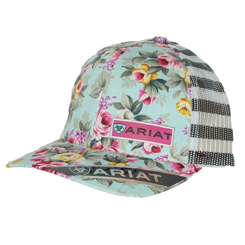 Ariat Floral Stripe Meshback Cap