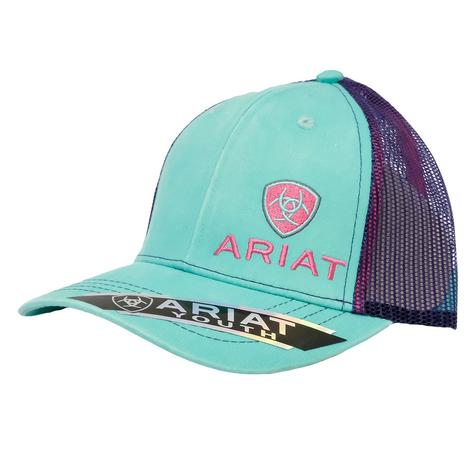 Ariat Turquoise Meshback Youth Cap