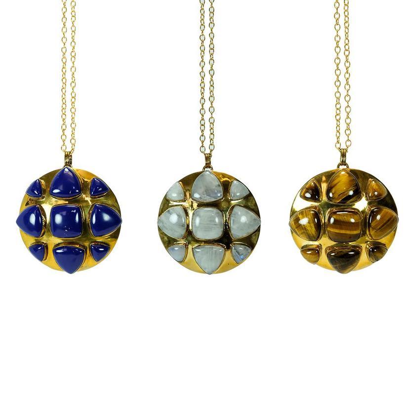 Bendall Stone Necklaces - Lapis, Moonstone, Tigereye