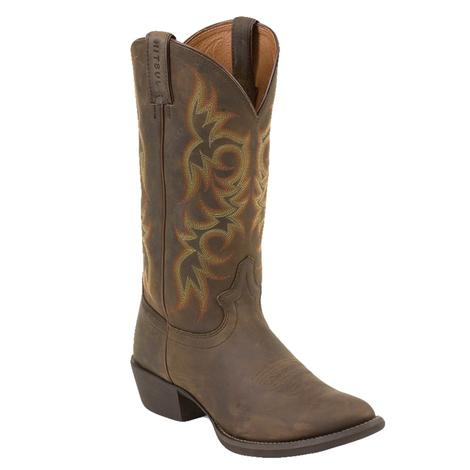 Justin Huck Brown Men's Boots