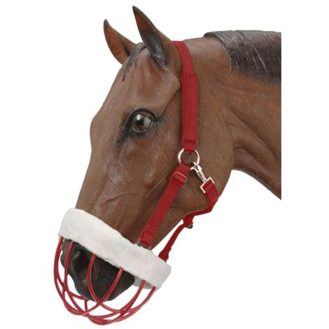 Vinyl Coated Muzzle with Headstall - Red