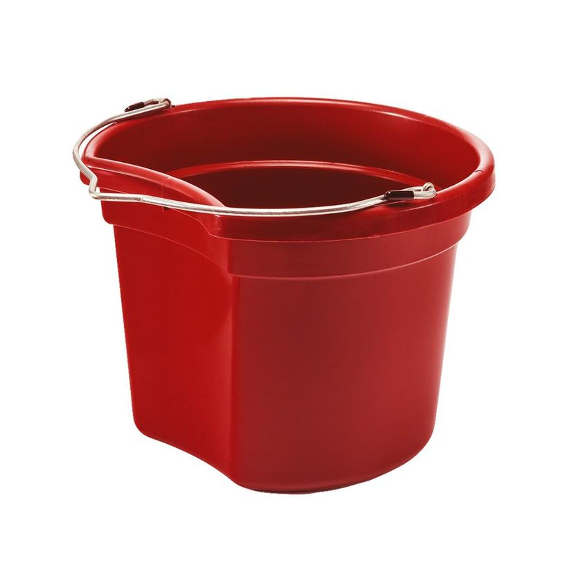 Small Economy Round Bucket 8 Qt. RED