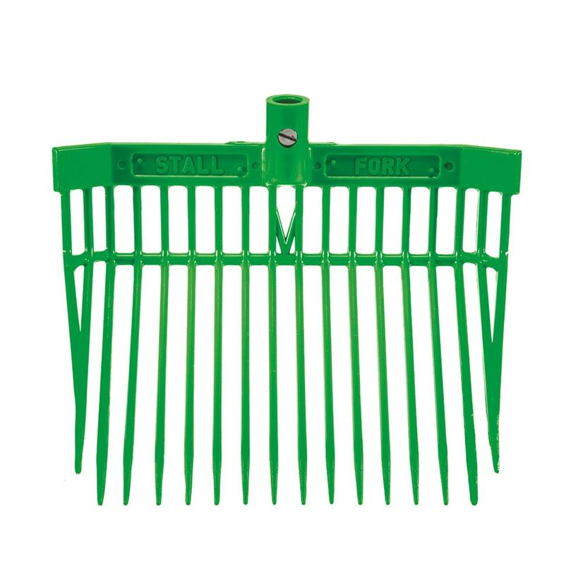 Angled Stall Fork - Complete Fork and Handle LIME_GREEN