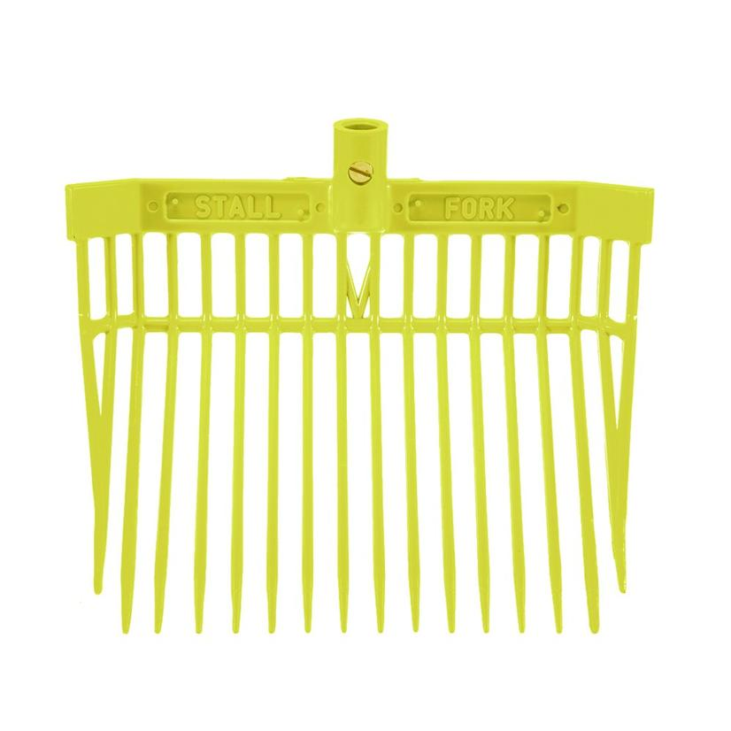 Angled Stall Fork - Complete Fork and Handle NEON_YELLOW