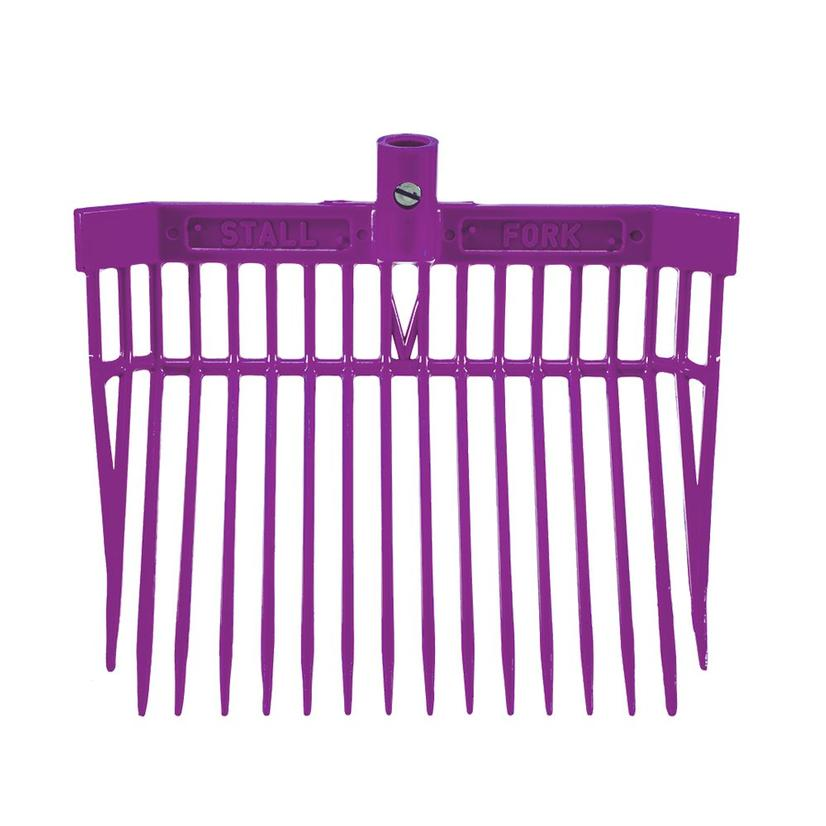 Angled Stall Fork - Complete Fork and Handle PURPLE