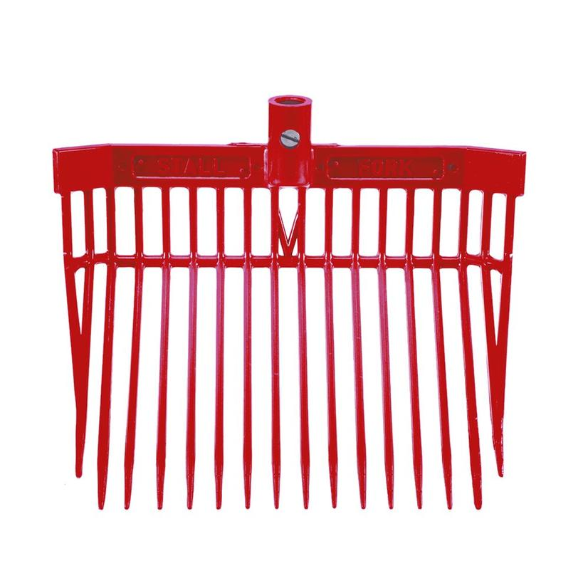 Angled Stall Fork - Complete Fork and Handle RED