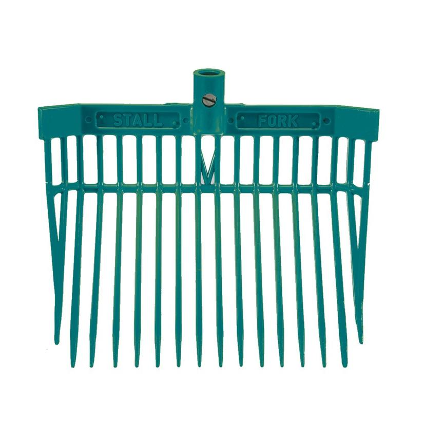 Angled Stall Fork - Complete Fork and Handle TEAL