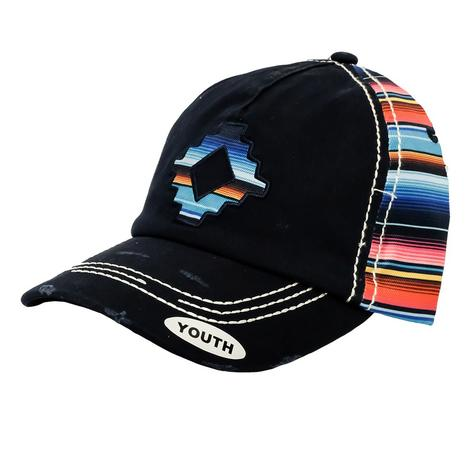 Cruel Girl Vintage Navy and Serape Print Youth Cap