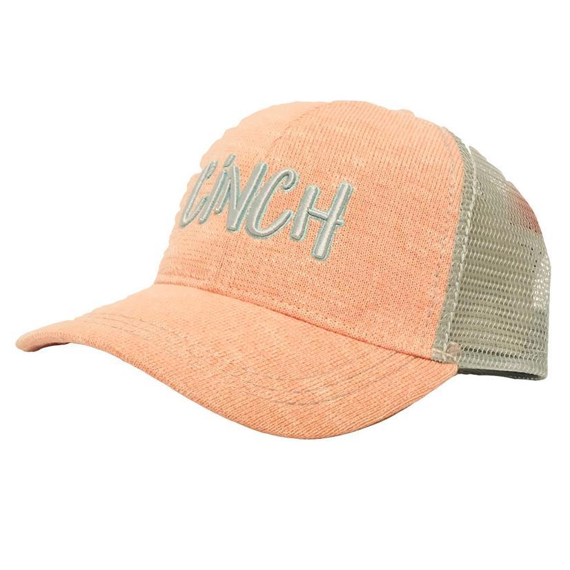 Cinch Coral Grey Trucker Meshback Cap