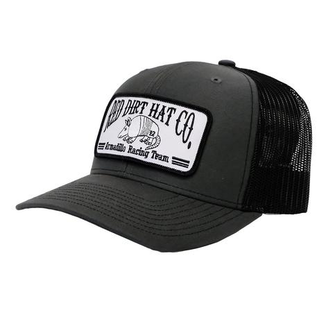 Red Dirt Hat Co. Charcoal Black Armadillo Patch Meshback Cap