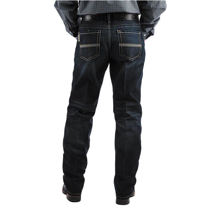 Cinch Sawyer Mid Rise Loose Boot Cut Dark Wash Men's Jeans