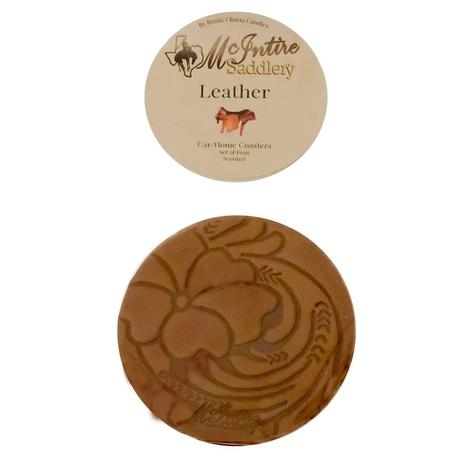 Miranda McIntire Leather Scented Car Coasters - Leather