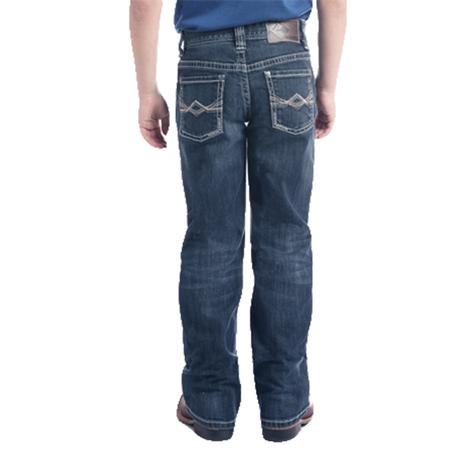 Rock and Roll Cowboy Double Barrel Straight Leg Vintage Wash Boy's Jeans