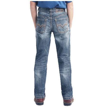 Rock and Roll Cowboy Double Barrel Slim Fit Medium Wash Boy's Jeans