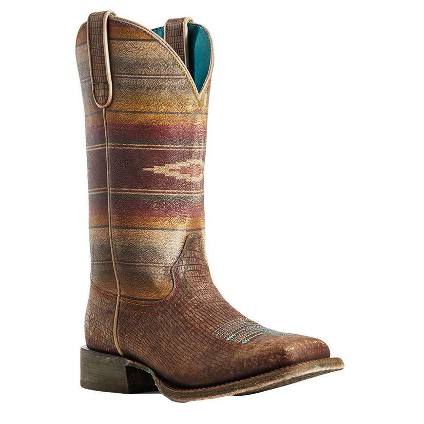 Ariat Circuit Savannah Distressed Lizard Serape Print Women's Boots