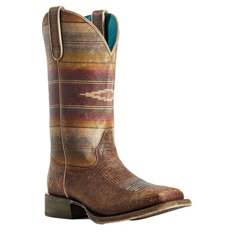 Ariat Circuit Savannah Distressed Lizard Serape Print Women's Boots