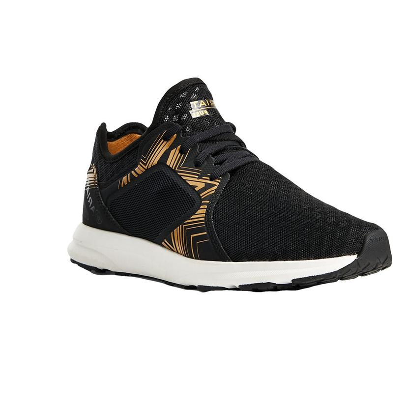 Ariat Fuse Black Gold Print Women's Tennis Shoes