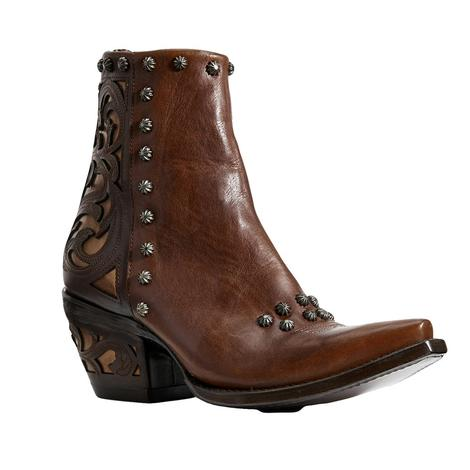 Ariat Diva Warm Cognac Studded Women's Shortie Boots