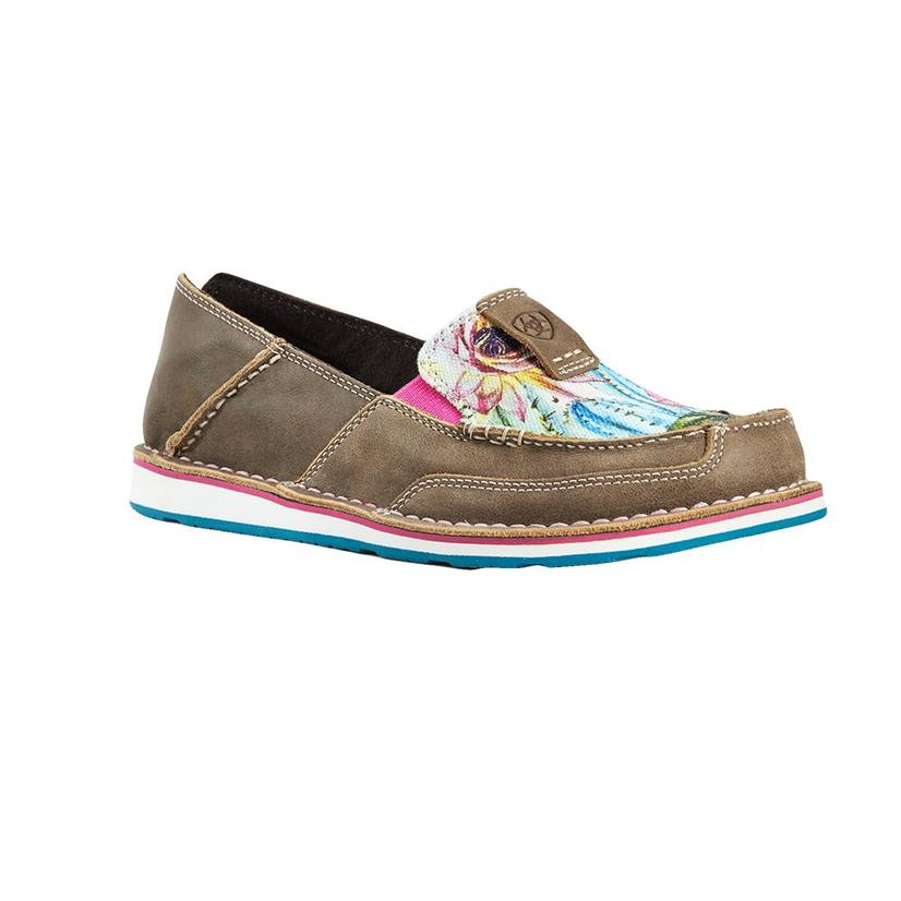 Ariat Brown Floral Cactus Cruiser Women's Shoes