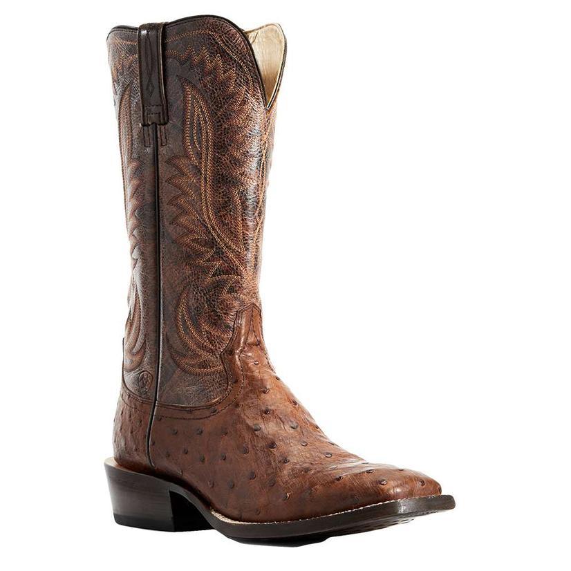 Ariat Showman Brandy Full Quill Ostrich Men's Boots