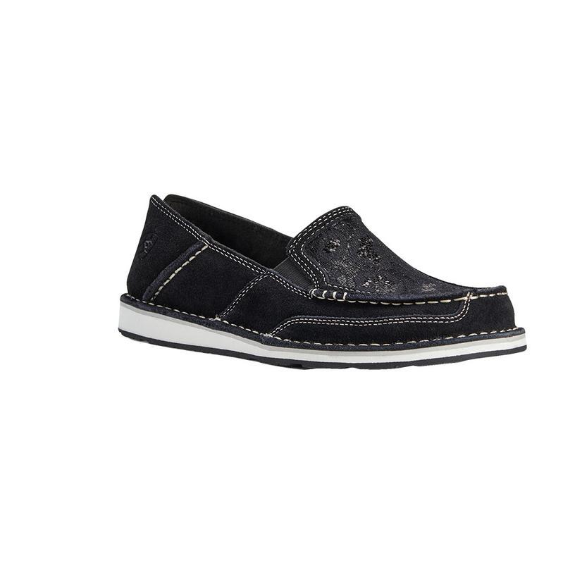 Ariat Black Suede Sequin Cruiser Women's Shoes