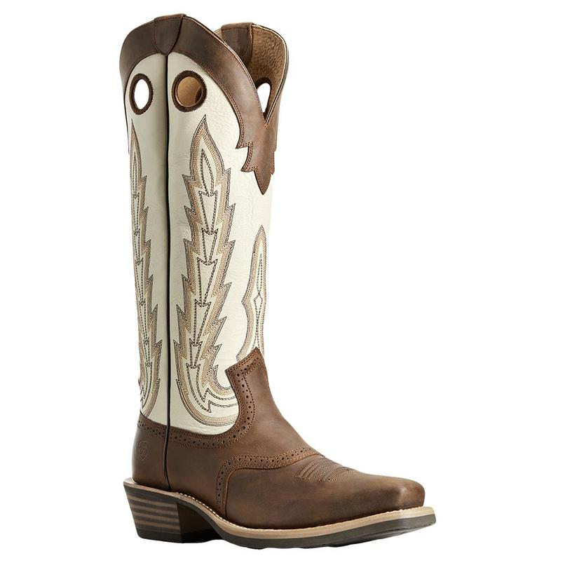 Ariat Heritage Buckaroo Brown Creme Men's Boots
