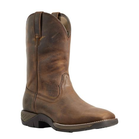 Ariat Ranch Work Distressed Brown Men's Boots