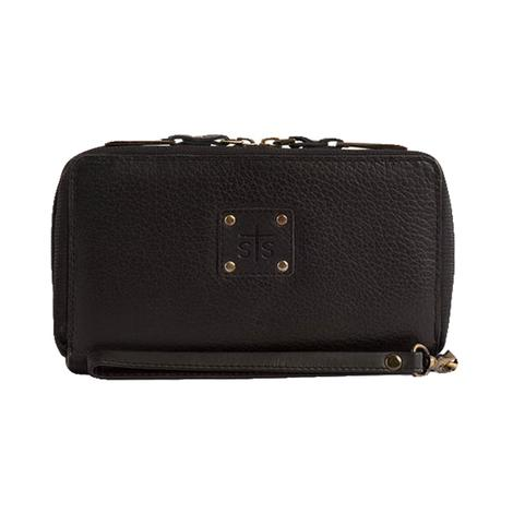 STS Ranch Kacy Black Leather Organizer