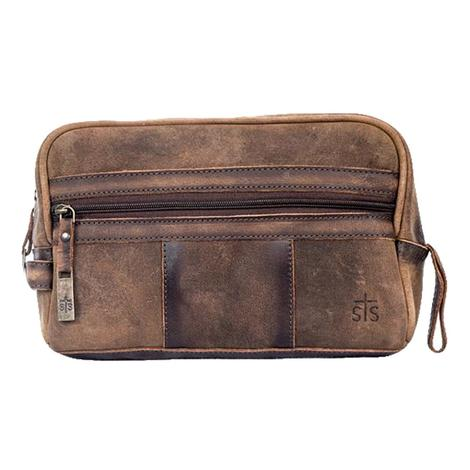 STS Ranchwear The Foreman Shaving Kit Brown Leather