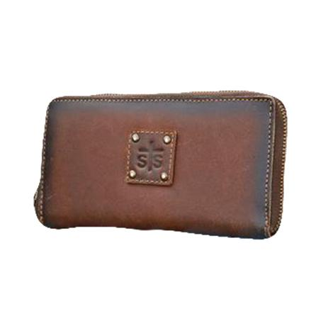 STS Ranchwear Brown Leather Baroness Bifold Wallet