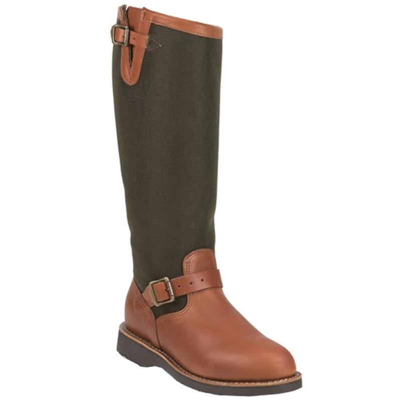 Chippeawa Brown Expresso Viper Cloth Men's Snake Boots