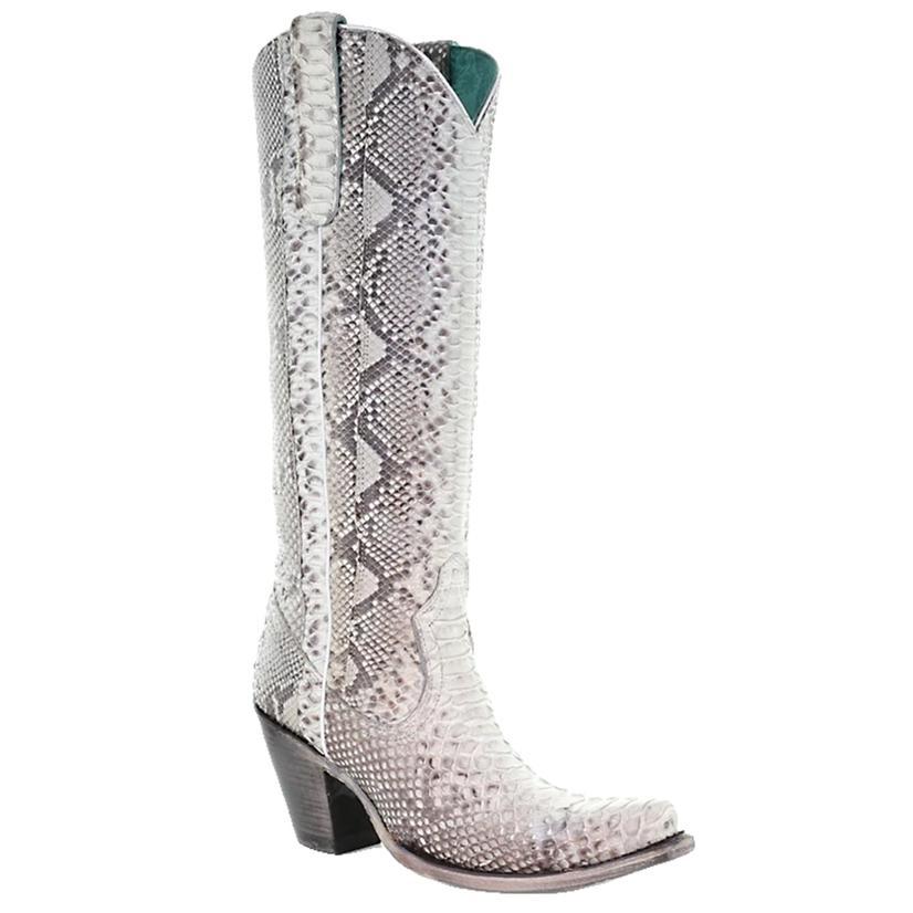 Corral Natural Python Zipper Tall Top Women's Boots