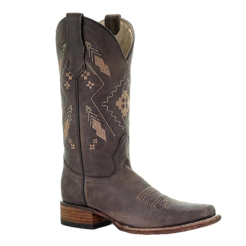 Corral Chocolate Tan Embroidered Women's Boots