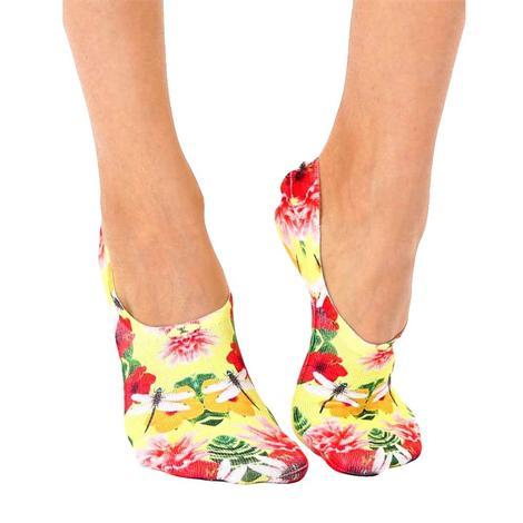 Dragonfly Floral Liner Socks