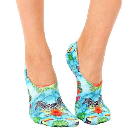 Tropical Zebra Liner Socks