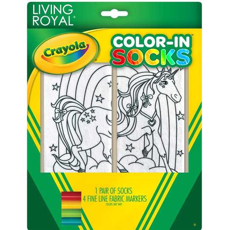 Unicorn Land Color-In Kid Socks