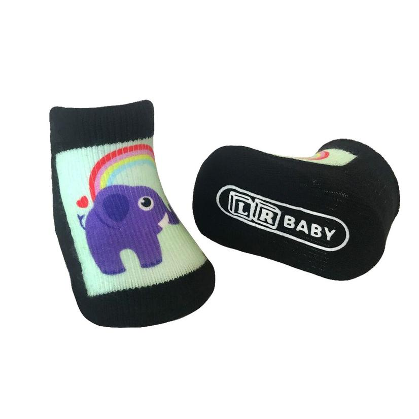 Rainbow Elephant Baby Socks