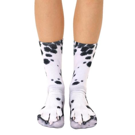 Dalmation Paw Crew Socks