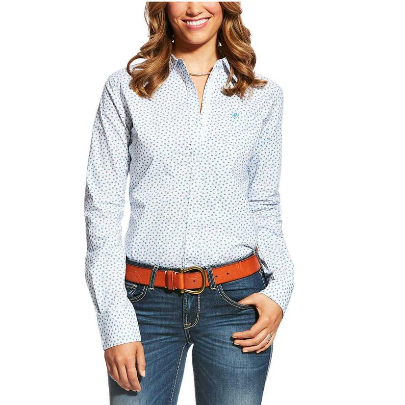 Ariat Kirby Pinstripe Dobby Button Down Women's Long Sleeve Shirt