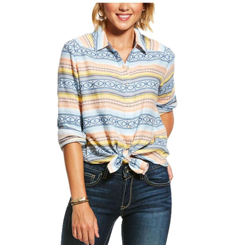 Ariat Serape Rolled Sleeve Button Down Women's Shirt