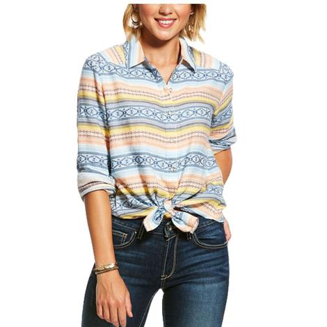 Ariat Serape Rolled Sleeve Button Down Women's Shirt