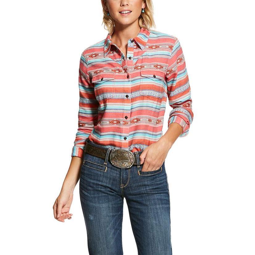 Ariat Serape Print Long Sleeve Button Down Long Sleeve Women's Shirt Extended Sizes