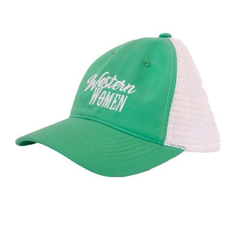 Western Women Teal Meshback Cap