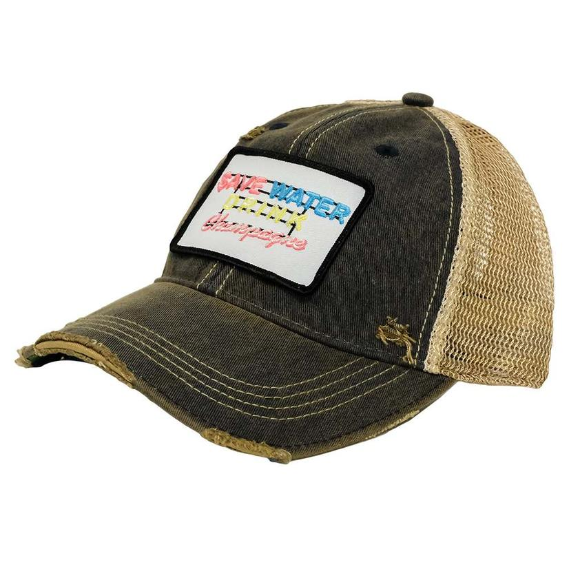 Save Water Brown Patch Cap