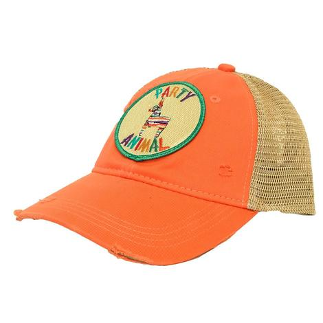 Party Animal Coral Patch Meshback Cap