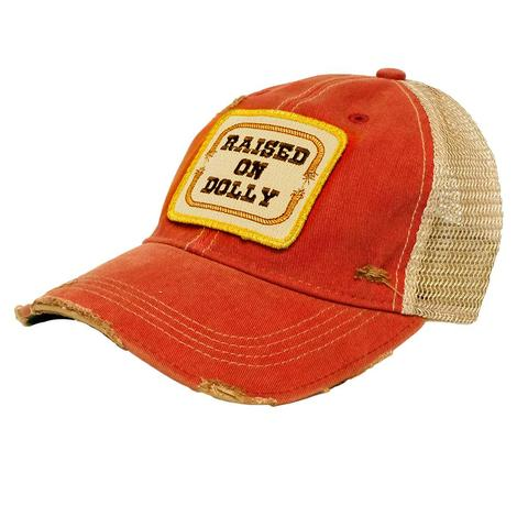 Raised on Dolly Burnt Orange Patch Meshback Cap