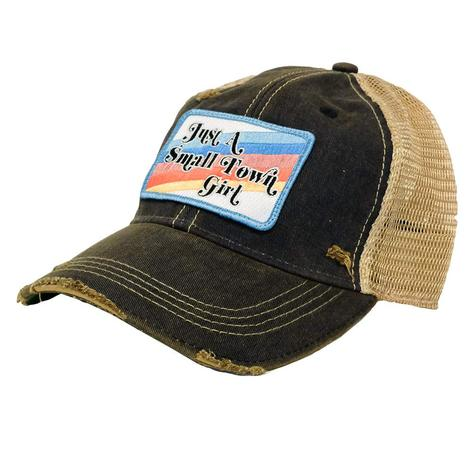 Small Town Girl Denim Patch Meshback Cap