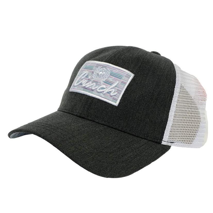Cinch Patch Black Heathered Meshback Cap