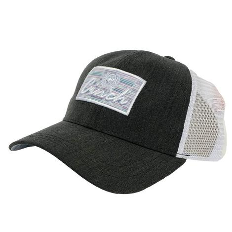 Cinch Patch Black Heathered Meshback Cap