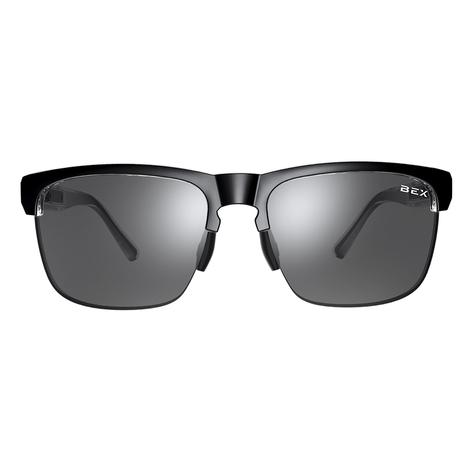 Free Byrd Black Grey Lens with Silver Flash BEX Sunglasses